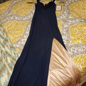 Navy and Pink full length dress
